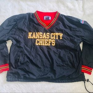 Vintage black red Kansas City Chiefs pullover XL